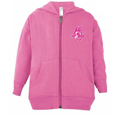 Hartford Yard Goats Soft As a Grape Toddler Full Zip Hoodie in Pink