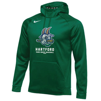 Hartford Yard Goats Nike Therma Hoodie in Hunter Green