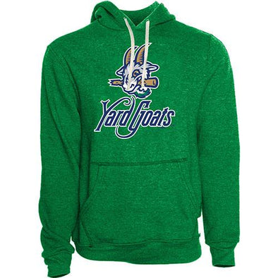 Hartford Yard Goats Retro Brand Adult Logo Hoodie in Kelly Green