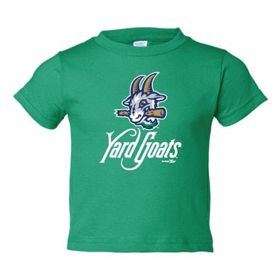 Hartford Yard Goats Toddler BR Primary Logo Tee in Green