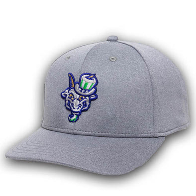 Hartford Yard Goats OC Sports Grey Relaxed Snap in Grey w/ Uncle Sam Logo