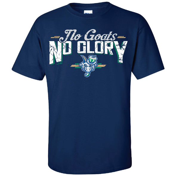 Hartford Yard Goats Adult Bimm Ridder No Goats No Glory Tee in Navy