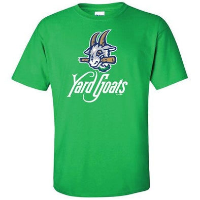 Hartford Yard Goats Adult Bimm Ridder Primary Logo Tee in Irish Green