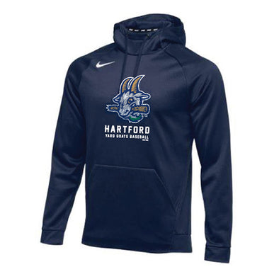 Hartford Yard Goats Nike Adult Therma Hoodie in Navy