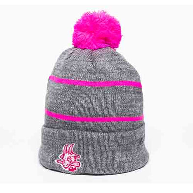 Hartford Yard Goats Pink and Grey Tonal Beanie