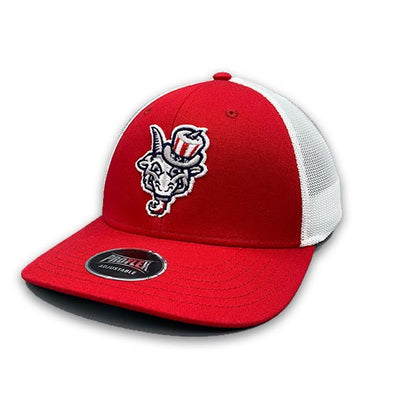 Hartford Yard Goats OC Sports Uncle Sam Adjustable Cap in Red
