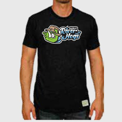 Hartford River Hogs Adult Triblend Tee in Black