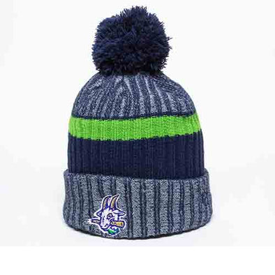 Hartford Yard Goats Navy, Green and Grey Beanie