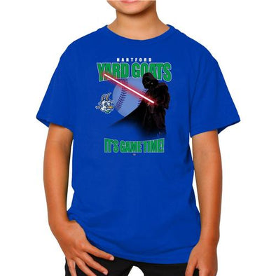 Hartford Yard Goats Retro Brand Youth Star Wars Game Time Tee 2019 - Royal
