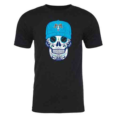 Hartford Yard Goats 108 Stitches Sugar Skull Triblend Tee in Black, Pink or Green