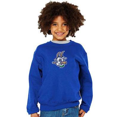 Hartford Yard Goats Toddler Crew Sweat Shirt in Royal