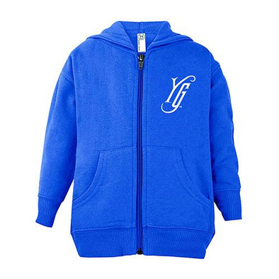 Hartford Yard Goats Toddler Full Zip Hoodie in Royal Blue