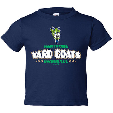 Hartford Yard Goats Bimm Ridder Toddler Gallery Tee in Navy or Green