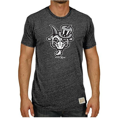 Hartford Yard Goats Retro Brand Triblend Uncle Sam Tee in Black