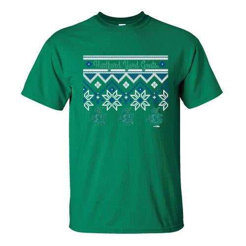 Hartford Yard Goats Ugly Sweater Tee - Kelly Green