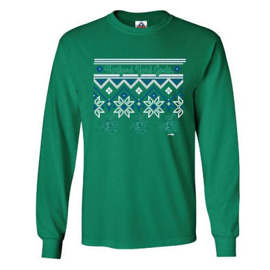 Hartford Yard Goats Ugly Sweater Long Sleeve - Kelly
