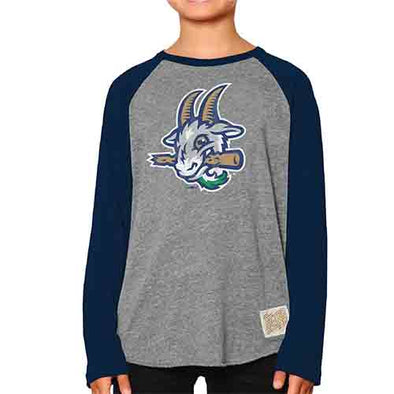Hartford Yard Goats Retro Brand Youth Long Sleeve Raglan