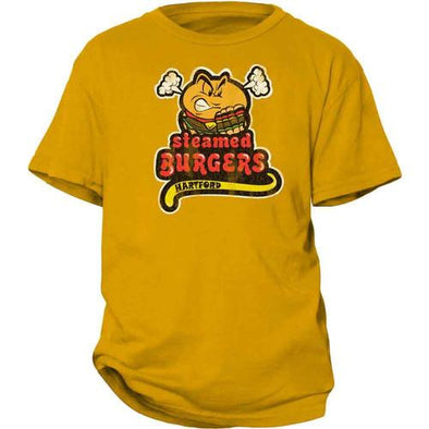 Hartford Steamed Cheeseburgers Youth T-Shirt in Yellow