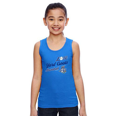 Hartford Yard Goats Youth Girls Tank Top in Blue