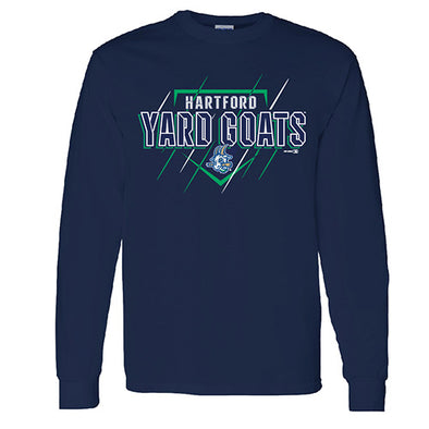 Hartford Yard Goats Bimm Ridder Yth LS Hang Tee in Navy
