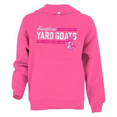 Hartford Yard Goats Soft as a Grape Youth Hoodie in Pink