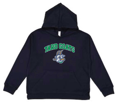 Hartford Yard Goats Soft as a Grape Youth Navy Pullover Hood