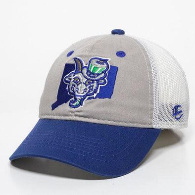 Hartford Yard Goats OC Sports Youth State Adjustable in Blue / Grey