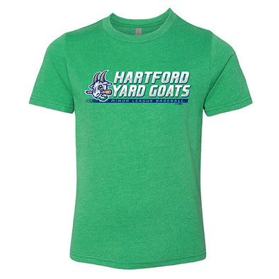 Hartford Yard Goats Bimm Ridder Youth Premium Wallrunner Tee in Green