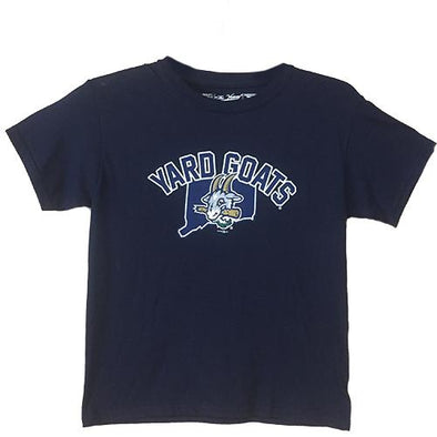 Hartford Yard Goats Retro Brand Youth YG State Tee in Navy