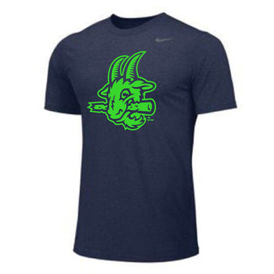 Hartford Yard Goats Nike Youth Neon Dri-Fit Tee in Navy