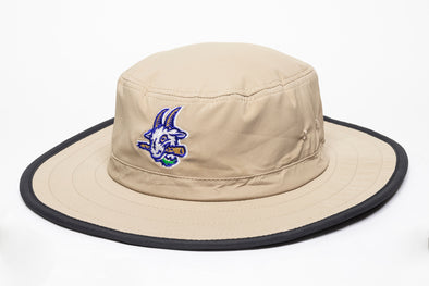 Hartford Yard Goats OC Sports Bucket Hat w/ Strings in Tan