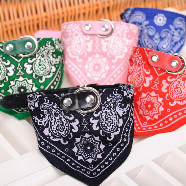 Dog Bandana Leather Collar