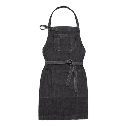 Garden Apron - Distressed Black Denim