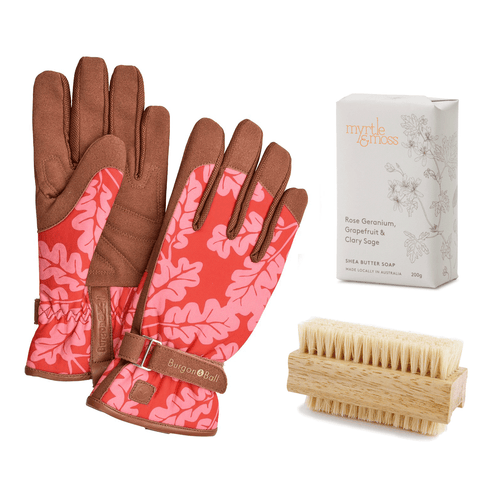 Gardener's Hand Care Gift Set - Poppy Oak Leaf