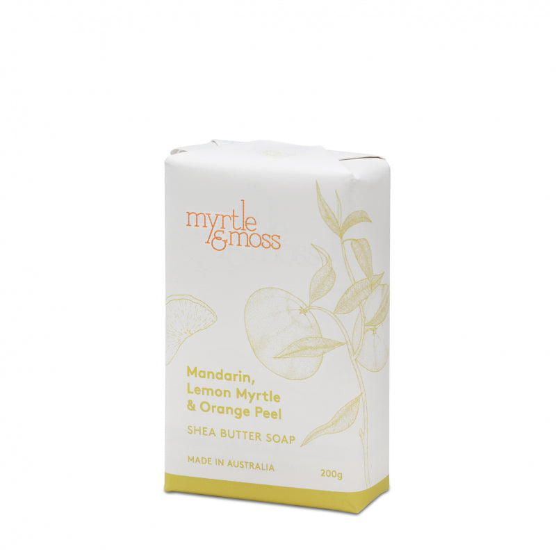 Myrtle & Moss Shea Soap - Mandarin, Lemon Myrtle & Orange Peel