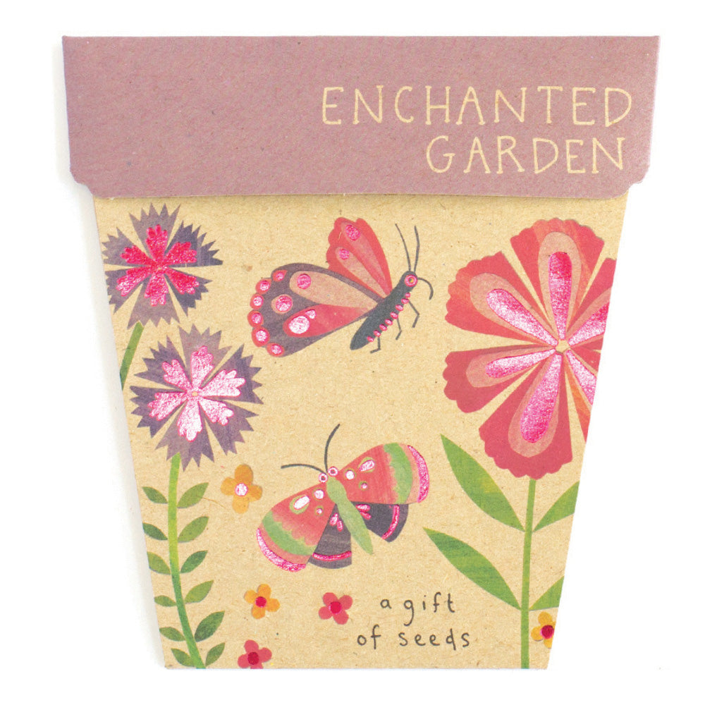Enchanted Garden Gift Card of Seeds - Front