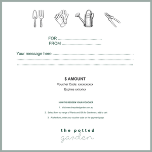 Gift Voucher |  | Plant Gifts | The Potted Garden