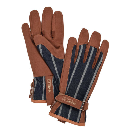 Sophie Conran - Everyday Gardening Gloves, Blue Ticking