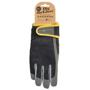 Burgon & Ball Gardening Gloves For Men, Slate Corduroy | Gardening Gloves | Plant Gifts | The Potted Garden