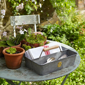 Sophie Conran - Galvanised Garden Tool Trug | Baskets & Trugs | Plant Gifts | The Potted Garden
