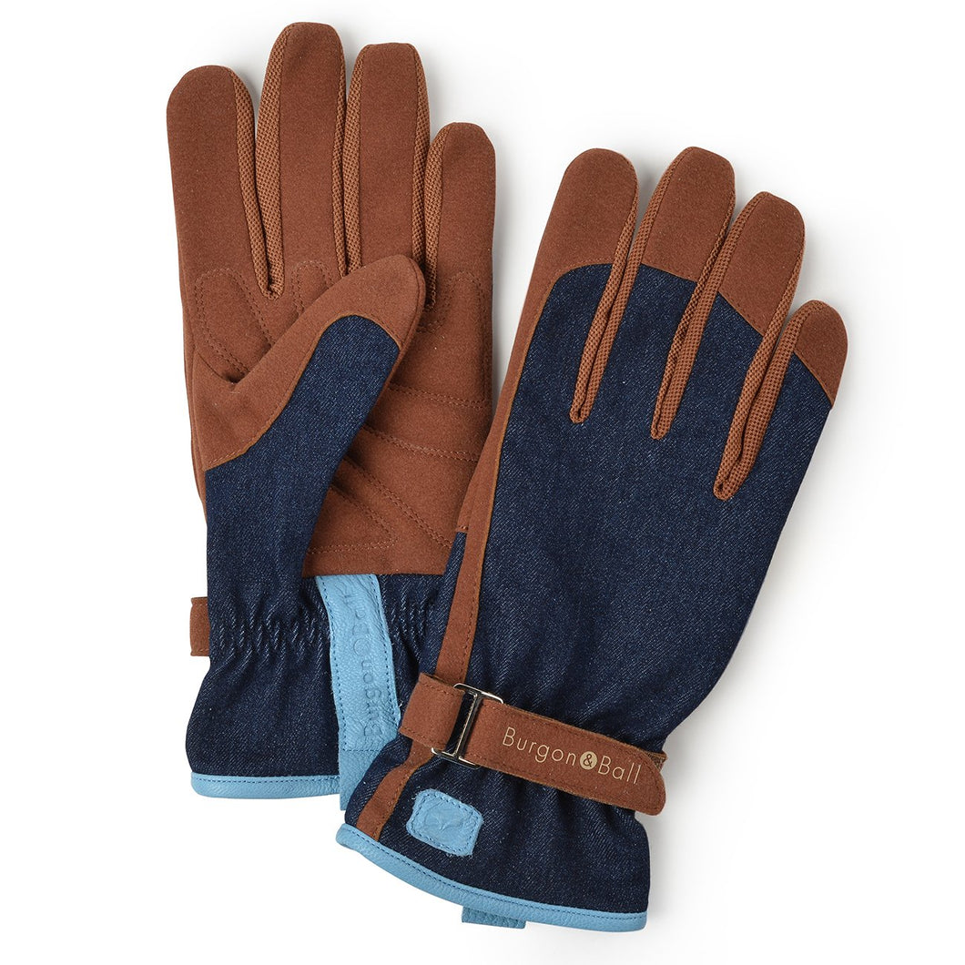 Burgon & Ball Gardening Gloves For Women, Denim