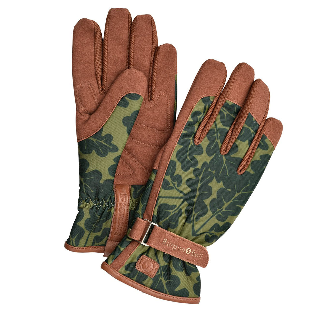 Women's Moss Oak Leaf Gardening Gloves by Burgon & Ball