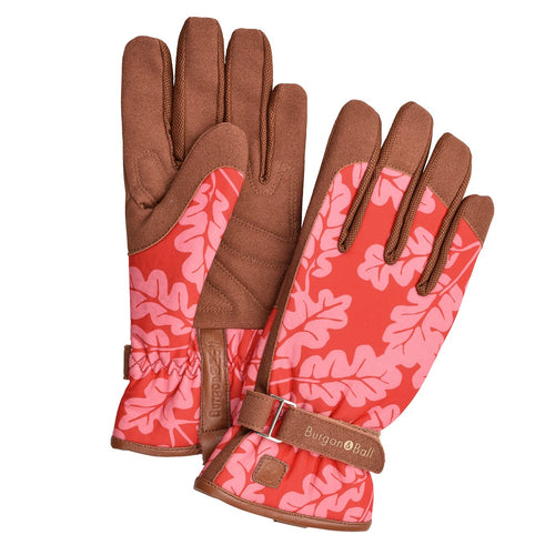 Women's Poppy Oak Leaf Gardening Gloves by Burgon & Ball