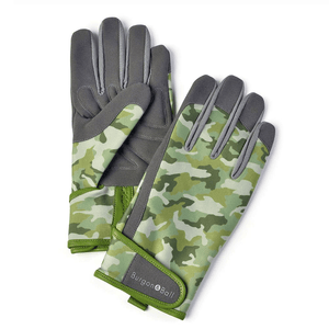 Burgon & Ball Gardening Gloves For Men, Green Camo