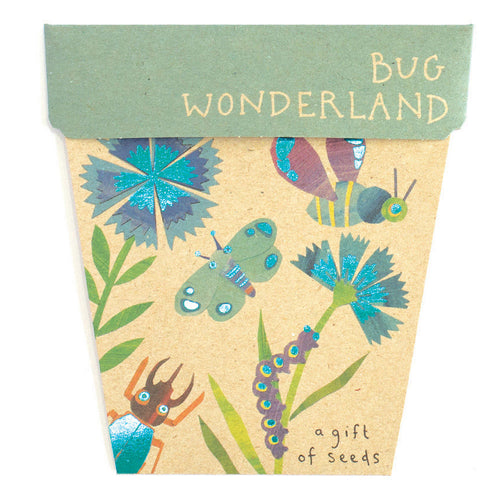 Bug Wonderland Gift Card of Seeds - Front