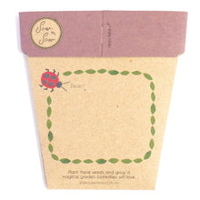 Enchanted Garden Gift Card of Seeds - Back