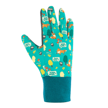 Foxy Gloves. Kids Gardening Gloves, Teal