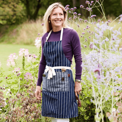 Sophie Conran - Full Gardener's Apron, Blue Ticking