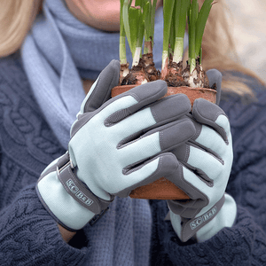 Women's Blue Gardening Gloves by Sophie Conran for Burgon & Ball