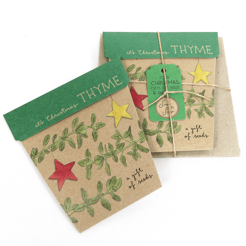 Christmas Thyme Card Gift Set of 4 | Seeds | Plant Gifts | The Potted Garden